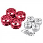 Metal Upgraded RC Car Wheel Hub for 1/16 WPL B14 B16 B24 C14 C24 B16 B36 JJRC MN RC Model Vehicle red