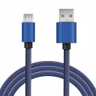 Micro USB Jeans Cable Fast Charging  Data Charger For Samsung Xiaomi Redmi Micro blue