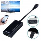 Micro USB Male to HDMI Female Adapter Cable High Definition Converter for Phone black