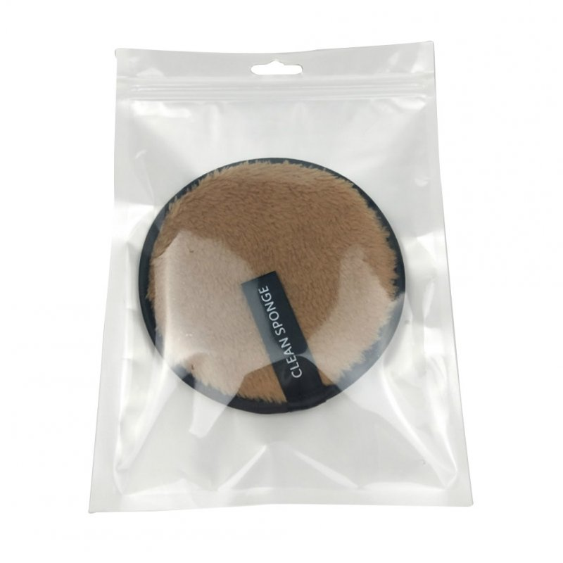 Microfiber Makeup Face Cleansing Towel Washable Double Side Cleaning Wipe Brown with packaging