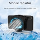 Mini 2 in 1 Multifunction Fan Cooling Radiator Phone Holder black