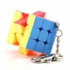 Mini 3 3 3 Keychain Magic Cube Stickerless Speed Cube Puzzle Educational Toy For Children Kids