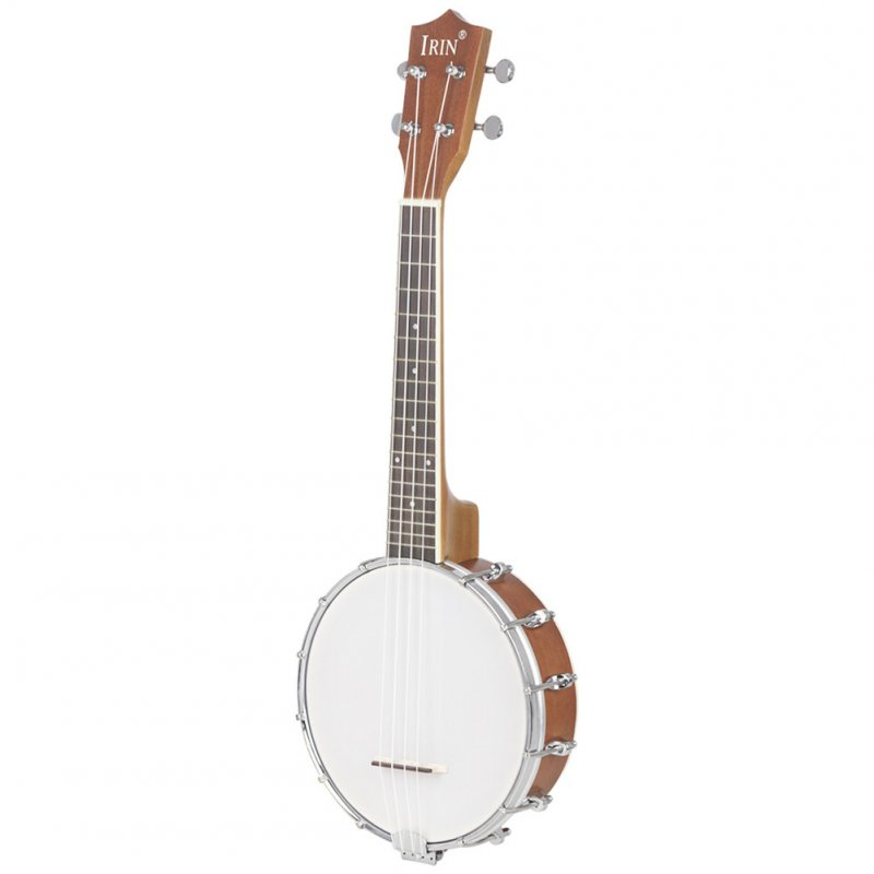 Mini 4 Strings Concert Banjo Uke Ukulele for Musical Stringed Instruments 64x24.5x10CM Gold_4-string small Banjo