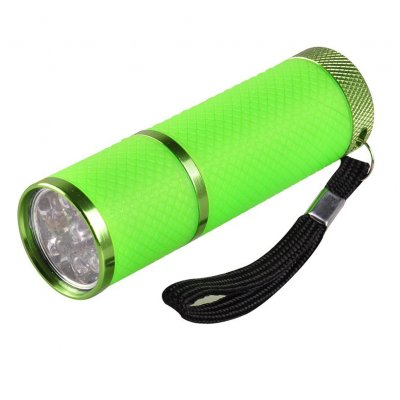 Mini 9 LEDs Flashlight Nail Dryer Curing Gel Lamp Flashlight Torch for UV Gel Nail Polish Dryer  green