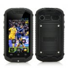 Mini Android Phone features a 2 45 Inch Screen  IP53 Water Resistant Rating and a 2 megapixel rear camera