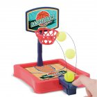 Mini Basketball  Toy Parent-child Family Fun Table Game Desktop Basketball Shooting Hoop Games red