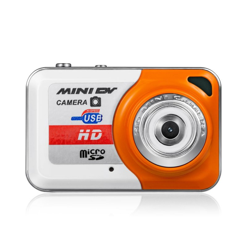 Mini Camcorder Small Portable DV HD Camera DVR Motion Detection Separate Recording Camera orange