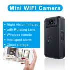 Mini Camera 2K HD WiFi DV Recorder 1200mAh Battery Rechargeable Security Sureveillance Motion Detection Infrared Night Vision Remote Monitoring WD6