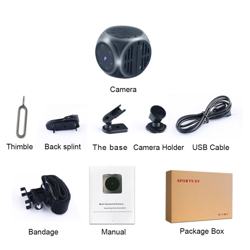 Mini Camera HD Camcorder Motion DVR Micro Camera Sport DV Video Small Tiny Camera black