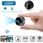 Mini Camera Wireless Wifi IP Security Camcorder HD 1080P Night Vision with 32G Memory Card As shown