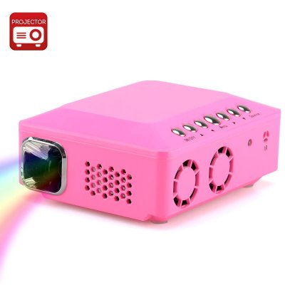 Mini DLP Projector (Pink)