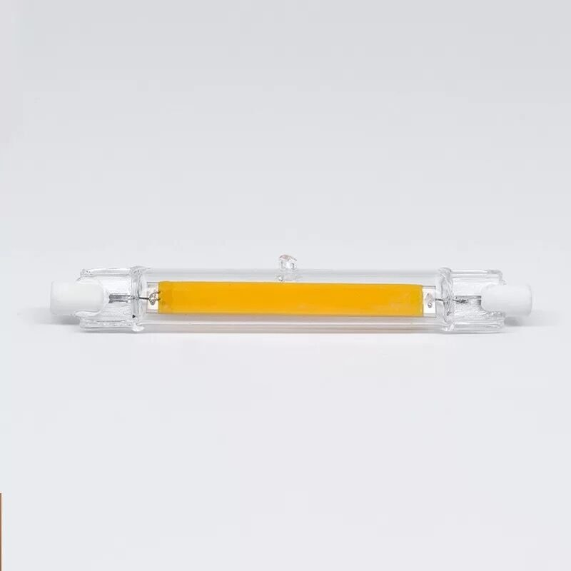 Mini Dimmable Glass R7S LED Lamp 5W 78mm/10W 118mm COB Bulb Replace Halogen Lamp Warm White_220V