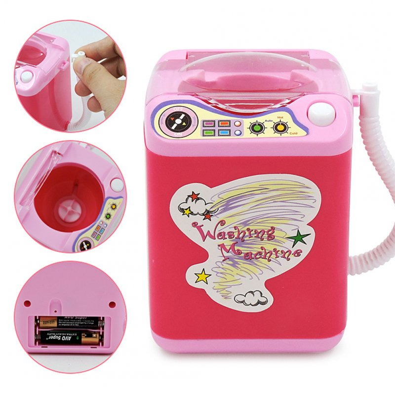 Mini Electric Washing Machine Dollhouse Furniture Pretend Play Toys Random Color Random Color