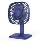 Mini Fan With Rechargeable Handheld Portable USB Desktop Small Mechanical Tool blue