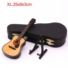 Mini Full Angle Folk Guitar Guitar Miniature Model Wooden Mini Musical Instrument Model Collection XL  25CM Acoustic guitar full angle