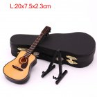 Mini Full Angle Folk Guitar Guitar Miniature Model Wooden Mini Musical Instrument Model Collection L: 20CM_Acoustic guitar full angle