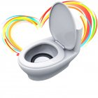 Mini Funny Flush Toilet closetool Speakers -