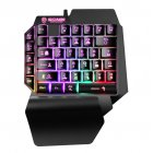 Mini Gaming Keyboard Mobile Tablet One-handed Wired Game Keypad for LOL PUBG CF Game Colorful Backlight Keyboard Gamer black