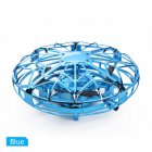 Mini Hand Operated Induction Drones UFO Quadrotor blue