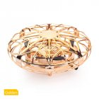 Mini Hand Operated Induction Drones UFO Quadrotor Gold