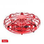 Mini <span style='color:#F7840C'>Hand</span> Operated Induction Drones UFO Quadrotor red