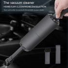 Mini Handheld Cordless Vacuum Cleaner USB Charging Low Noise Air Suction Home Car Cleaning black
