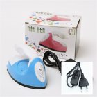 Mini Heat Press Machine For T Shirts Shoes Hats Small Heat Transfer Vinyl Projects Charging Base Accessories blue EU Plug