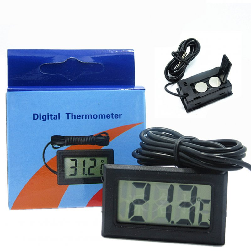 Mini LCD Digital Thermometer with Waterproof Probe for Home Office