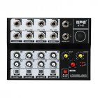 Mini Mixing Audio Sound Mixer 8 Channel Karaoke Microphone Amplifier Console  black