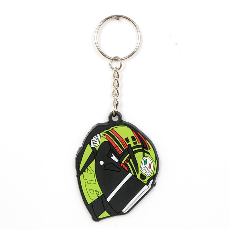 Mini Motorcycle Key Ring Fashion Design Rubber Keychain Pendant for Key Decoration A