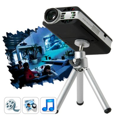 Mini Multimedia Projector with Remote
