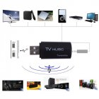 Mini Music Audio Transmitter 2 1 Wireless Audio Music Stereo Transmit Dongle Transmitters for Television Computer DVD MP3 black