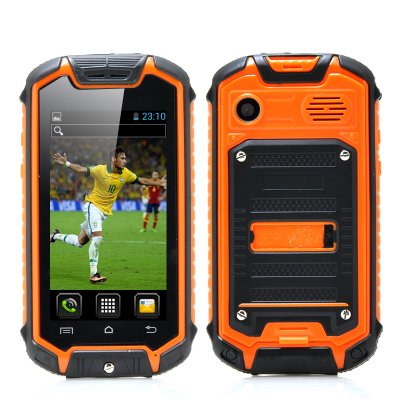Mini Nano Rugged Mobile Phone (Orange)