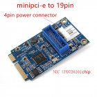 Mini PCI-E to 19-pin USB 3.0 Mini Expansion Card MINI PCIE to 20PIN/19Pin USB3.0 Adapter