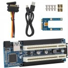 Mini PCIe Dual Size to PCI Slot Expansion Adapter External Capture Card for 5V Desktop Support and 3.3V PCI Devices