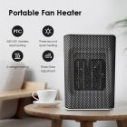 Mini Portable Fan Heater Warm Air Blower for Home Office Fast Heating Ceramic Electric Heater European Regualtion white