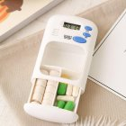 Mini Portable Pills Reminder Electronic Box Organizer with LED Display Alarm Clock Small First Aid Kit Photo Color