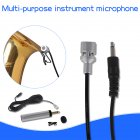 Mini Portable Wired Electret Condenser Lapel Lavalier Clip-on Musical Instrument Mic Microphone for Guitar Sax Trumpet Violin black