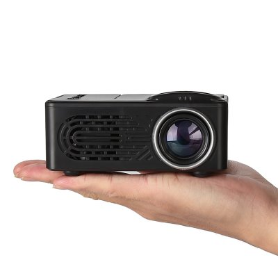 Mini Portable Projector-Black UK Plug