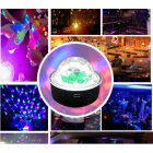 Mini RGB Light USB Rechargable Voice Activated Rotating Car Disco Stage Party Magic Lamp charging
