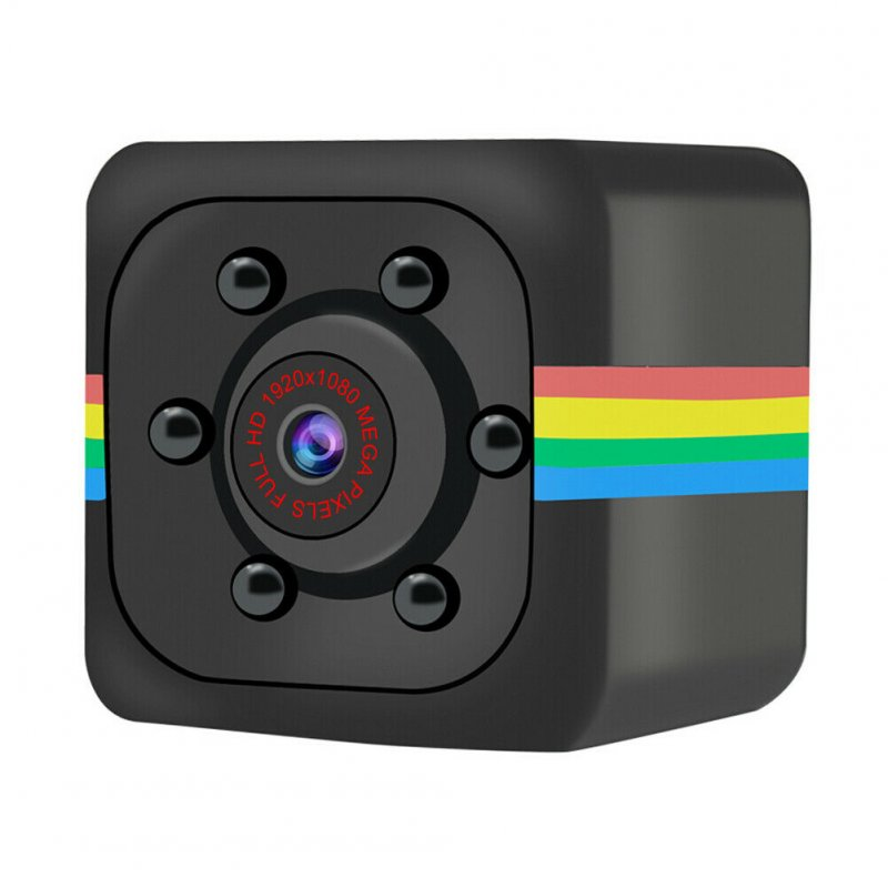 Mini SQ11 Metal Camera HD 1080P Sports DVR Camera Night Vision Sports Outdoor Camera black_1080P