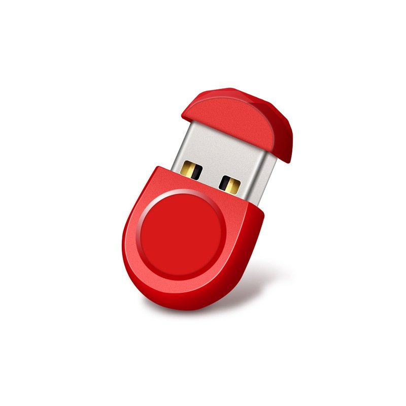 Mini Short Small U Disk 16g 32g 64g Car U Disk Usb Flash Drive Computer Mobile Music Metal Waterproof U Disk red