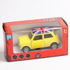 Mini Simulate the Union Flag Pattern Alloy Car Pull Back Door Opening Toy for Boys(Box Packing) yellow