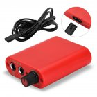 Mini Tattoo Power Supply Professional Power Supply with Cable Red US plug