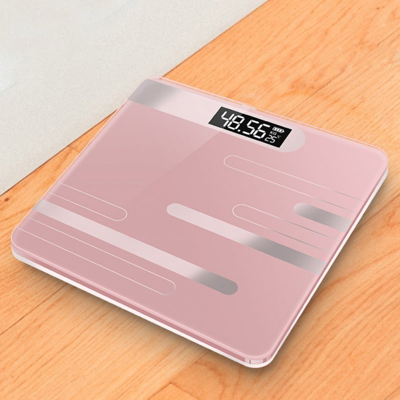 Mini USB Charging Smart Electronic ​Digital Household Weighing Scale Line rose gold_Charging