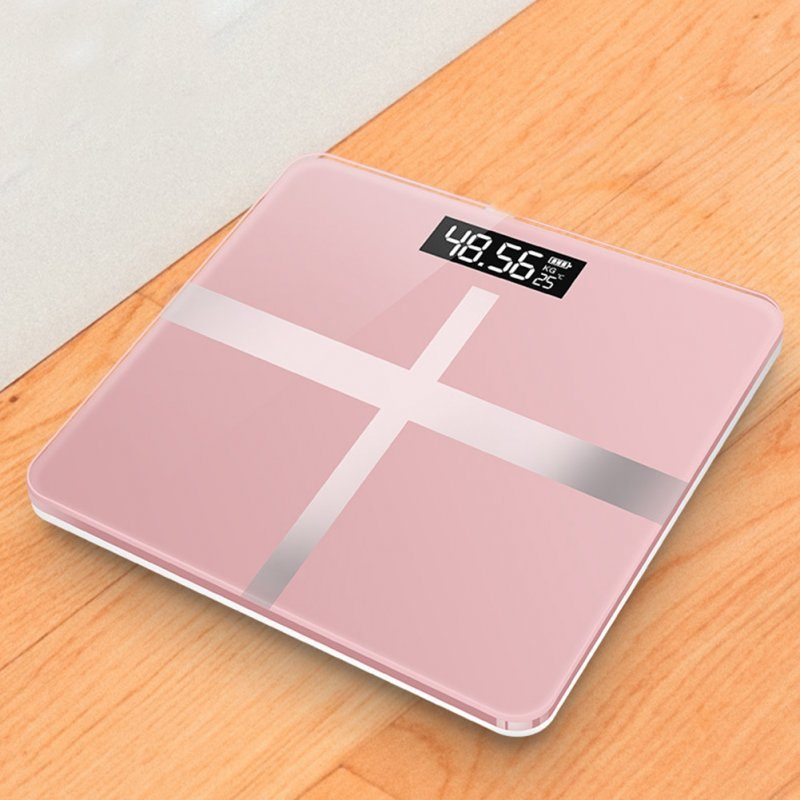 Mini USB Charging Smart Electronic ​Digital Household Weighing Scale Cross rose gold_Charging