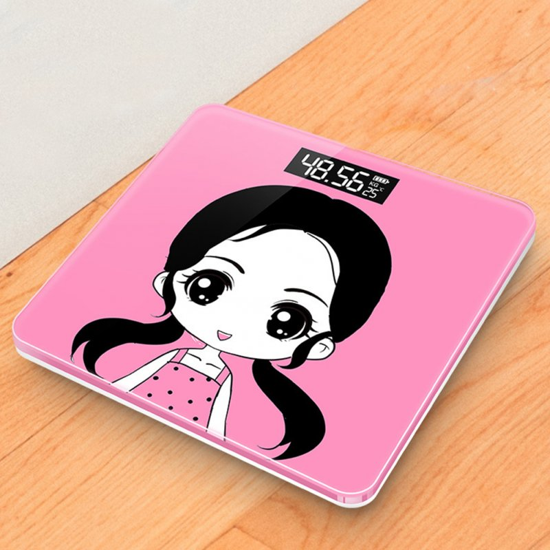 Mini USB Charging Smart Electronic ​Digital Household Weighing Scale Cute girl_Charging
