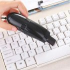 Mini USB Keyboard Vacuum Brush Cleaner Laptop Brush Dust Cleaning Kit Household Cleaning Tool black