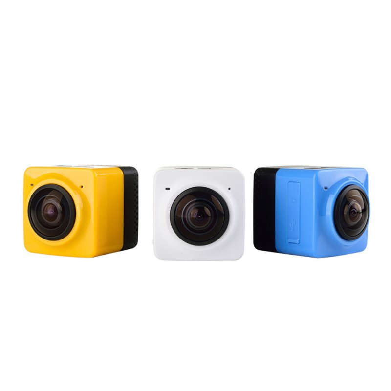 Mini Panoramic Wide Angle Action Camera White