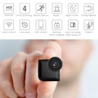 Mini Wide Angle Night Vision Camera Wireless Home Security Camera black